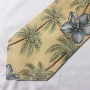 Tommy Bahama Handmade Palm Tree Silk Necktie